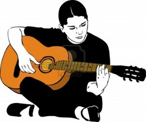 12358218-a-girl-playing-on-an-acoustic-guitar