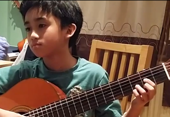 "TJ Punzalan """"Marco is a good teacher.  He helps me develop my timing in playing guitar. I also learned how to read proper music which helps me in my music theory lesson at school."