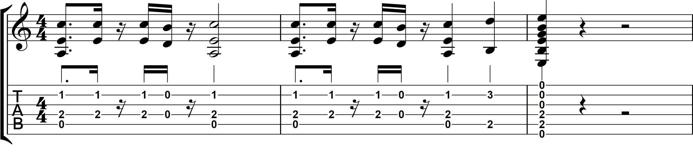 Rather Be Last two bars of Riff ...