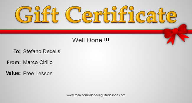 Well Done Stefano Free Guitar Lesson