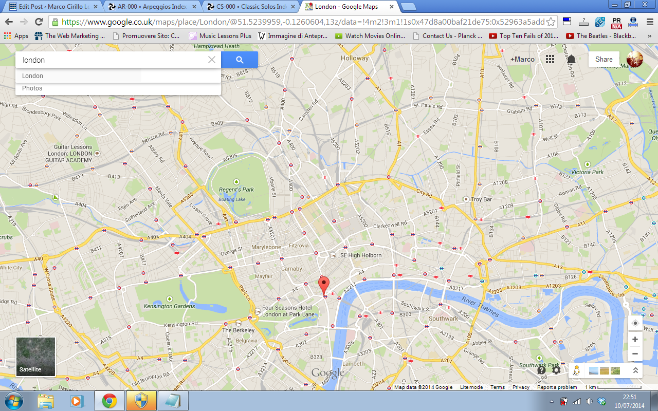 Map Of London North South East West.Guitar Lesson In London North South West East London Marco