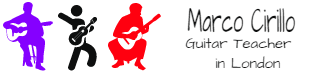 Marco Cirillo London Guitar Lesson Electric, Acoustic and Classical Guitar Tutor. Guitar Lesson in Kilburn, Kensington and Central London.